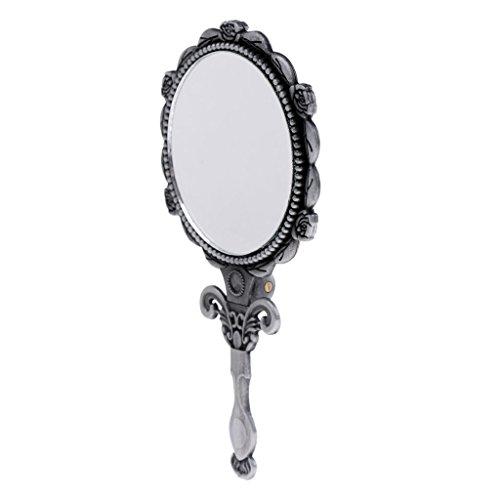 Sharplace Handspiegel Retro Kosmetik-Spiegel mit klappbar Griff. Perfektes Geschenk für Damen und...