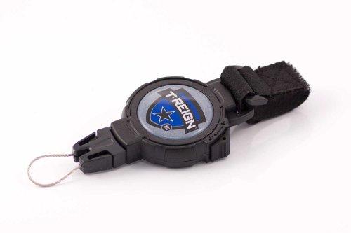 T-Reign Retractable Gear Tethers & Cases Accessoire de Fixation avec Bande Velcro Noir Noir Moyen