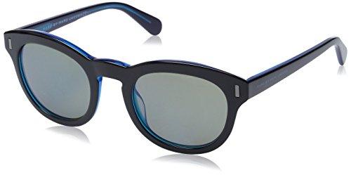 Marc By Marc Jacobs 433 Black / Blue / Khaki, Blue Mirror Kunststoffgestell Sonnenbrillen