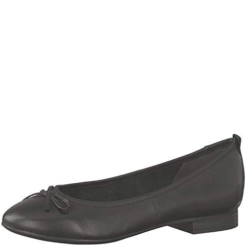 Tamaris 1-1-22114-22 Damen KlassischeBallerinas,Flats,Sommerschuh,klassisch elegant,Touch-IT,Black,38 EU
