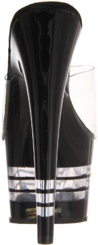 Pleaser ADORE-701 Damen Sandalen Transparent (Clr/Blk)