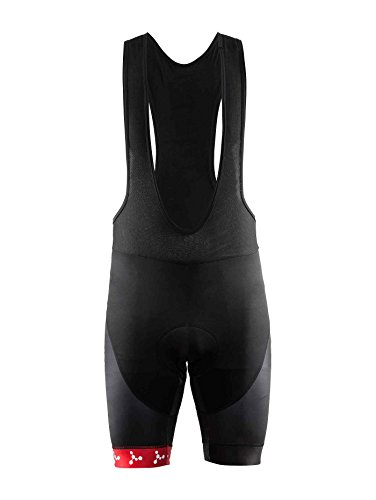 Craft Bora Bora Argon 18Réplica Bib Pantalones Cortos para Mujer Black/Bright Red Talla:S