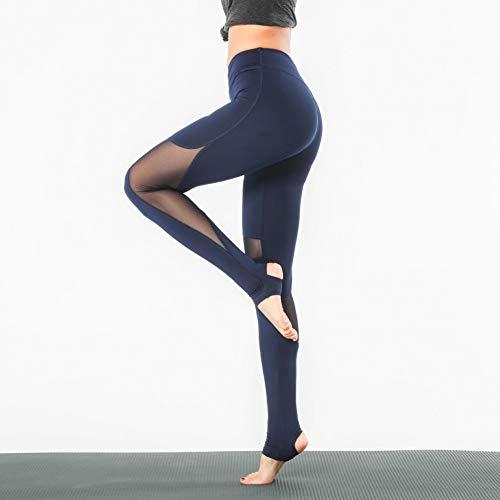 Royal Blue Womens Capris (BYOGAZT @ Yoga Hose Yoga Leggings Fuß Mesh Yoga Hose Frauen Enge Fitness Hose Feuchtigkeitshose)