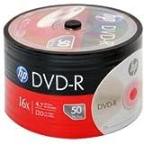 HP 4,7 GB DVD-R DVD-Rohline (16x Speed, 120 Min) in 50er Spindel