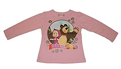 Mascha und der Bär/Masha and the Bear Langarmshirt in Rosa