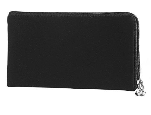 Reissverschluss Handytasche geeignet für Apple Iphone 6 / Apple Iphone 7 Handy Schutz Hülle Slim Case Cover Etui schwarz (x1)