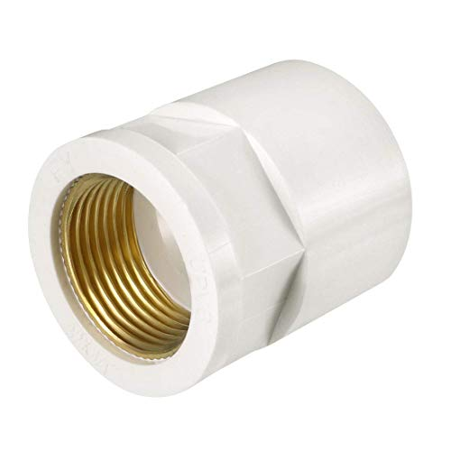 ZCHXD 32mm Slip x 3/4 PT Female Brass Thread PVC Pipe Fitting Adapter -