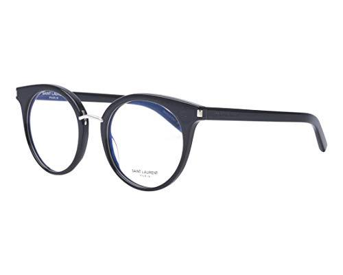 Yves Saint Laurent Brille (SL-221 002) Acetate Kunststoff - Metall glänzend schwarz - silber