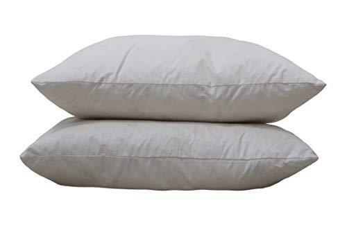 Original Sleep Company Parure de lit Direct UK - Coussins en Plumes de Canard Lot Inserts Les Ed 38,1 cm 40,6 cm 45,7 cm 61 cm 66 cm 32, 100% Coton, Blanc, 16\