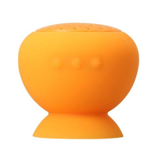 Ziho®Mini Wireless Bluetooth wasserdicht Lautsprecher Sucker Speaker USB mit Saugnapf für Apple iPhone Smartphone Orange