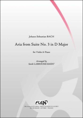 PARTITURA CLASICA - Aria from Suite No. 3 in D Major - J. S. BACH - Violin and Piano por BACH Johann Sebastian