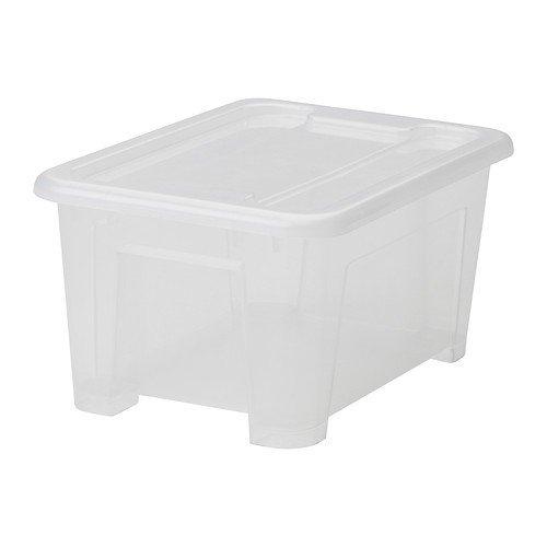Ikea Samla Box 5 Litri Con Coperchio Scatola Trasparente