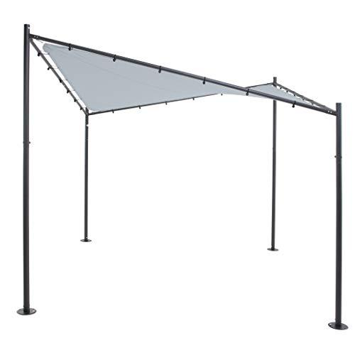 SORARA Schmetterling Schattentuch | Grau | 300 x 300 cm / 3 x 3m | Viereckig Polyester 300 g/m² (UV 50+)| Outdoor Pavillon Gartenzelt | Gartensonnensegel