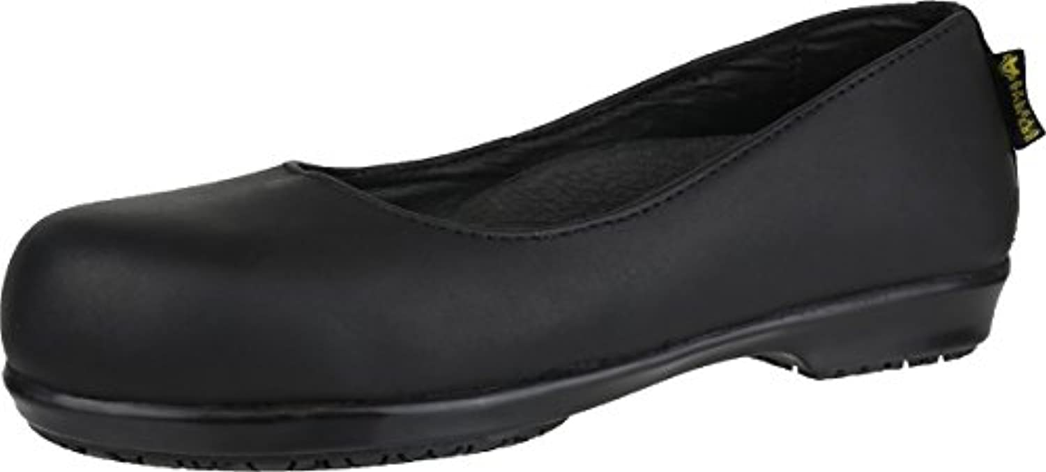 Amblers Safety Womens FS109C Non Metal Slip On Leather Shoes