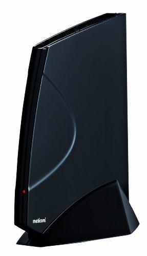 Meliconi AD-40 Sail Antenna TV  Amplificata per Interni, Nera
