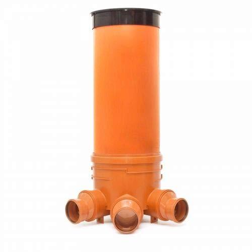 KG Schacht DN400/DN125 - Komplett SET - KG Rohr - Kanal Entwässerung - Decke -l KG Abwasserschacht D -