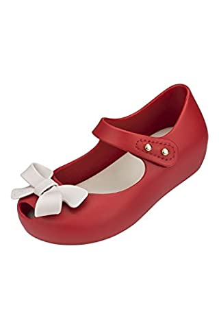 Mini Melissa (+ Vivienne Westwood) Mini Williams Bow contraste rouge 16 UK 4 (EUR 19/20)