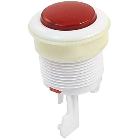 Sourcingmap  - Blanco hilo de 28mm pulsador rojo juego de arcada para máquina recreativa