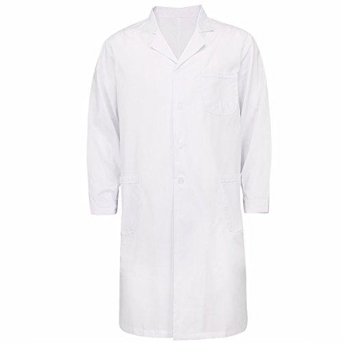 iiniim Damen/Herren Arztkittel Labormantel Laborkittel Unisex Medizin Kittel -