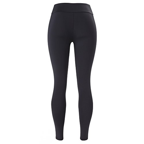 Junshan Femme Pantalon Legging Fitness Pilates Gaine large Elasticite Elevee Respirant Skinny Sechage Rapide pour Yoga multicolore multi-code Noir