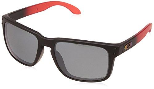 Oakley Herren Holbrook 9102D3 55 Sonnenbrille, Rot (Ruby Fade/Prizmblackpolarized),