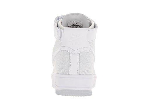 Nike Donna W  AF1 Flyknit scarpe sportive Bianco (Blanco (White / White-Pure Platinum))