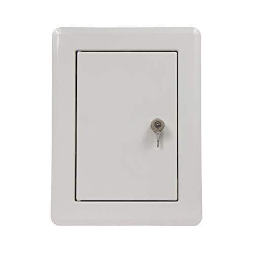 Ampel 24 Trappe pour dévaloir à linge   Porte de conduit   bouton tournant   rectangulaire   thermolaquée blanche   verrouillable