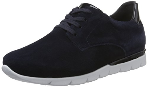 Semler Damen Nelly Brogue Schnürhalbschuhe Blau (midnightblue-ocean)