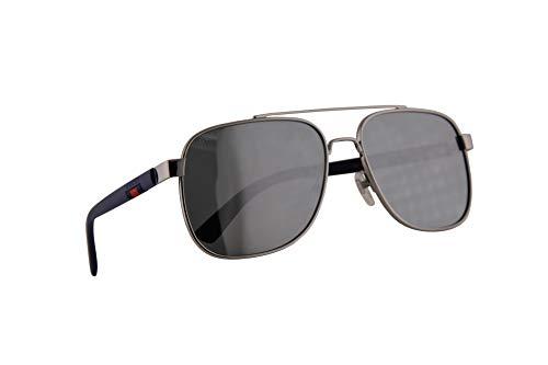 Gucci GG0422S Sonnenbrille Silber Blau Mit Silbernen Verspiegelten Gläsern 60mm 004 GG0422/S 0422/S GG 0422S