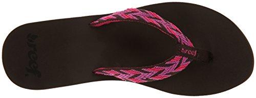 Reef Mid Seas, Tongs femme Marron (Brown/Pink)
