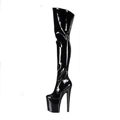 Botas De Tobillo Para Mujer-noche Y Fiesta-plateau-a Plateau-pu Stiletto (poliuretano) -negro Rojo Blanco Negro