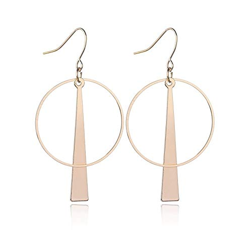 ZHOUYF Ohrringe Ohrstecker Ohrhänger Ankunft Geometrie Runde Anhänger Hängende Ohrringe Für Frauen Vintage Gold Farben Günstige Ohrringe Modeschmuck