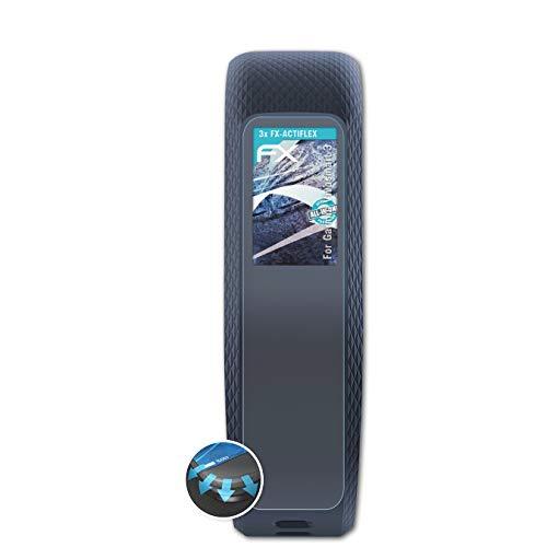 atFoliX Schutzfolie passend für Garmin Vivosmart 3 Folie, ultraklare & Flexible FX Bildschirmschutzfolie (3X)