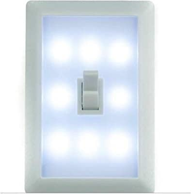 Night Light Wall Switch - Set of 2 - Wireless Battery LED Lamp. Ideal Children's Bedroom Nightlight