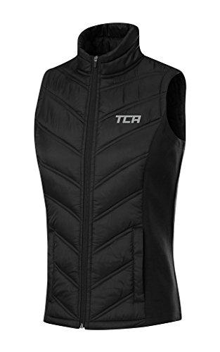 TCA 'Excel Runner' Damen Thermo-Laufweste mit Reißverschlusstaschen - Schwarz, M