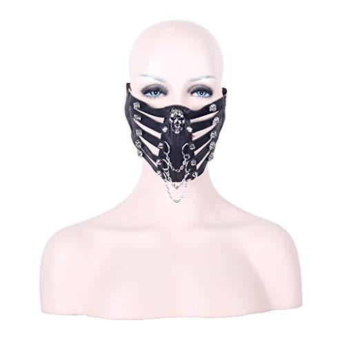 Halloween maske Kostüm Maskerade Party Schädel Rock Bühne -