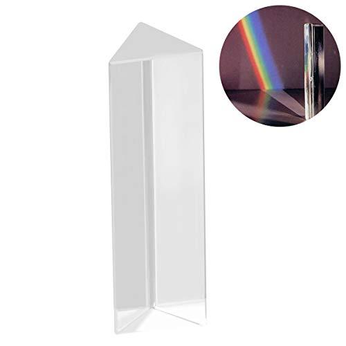 UEETEK Prisma triangular de vidrio óptico de cristal para...
