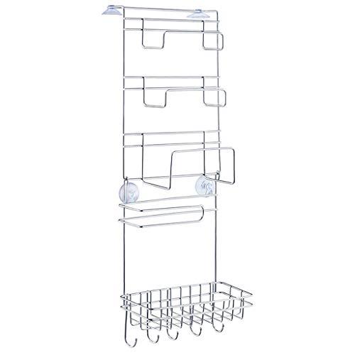 Edelstahl-Aufbewahrungsregal, Regalseitiger Kühlschrank Küchenregale, Geeignete Glatte Oberfläche Des Kühlschranks, 260 * 100 * 720mm (Farbe : Silber)