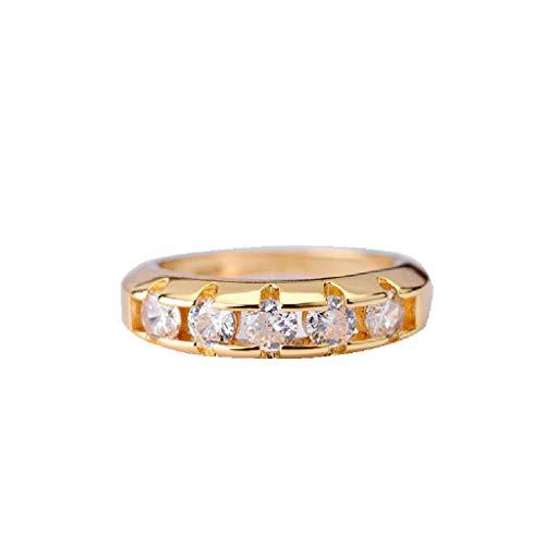 UINGKID Schmuck Damen Ring Mode Eleganter Kreis Glänzend Gold ()
