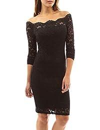 1f5e18b58b82 Simple-Fashion Primavera e Autunno Vestito Donna Corti Vestiti a Pizzo Moda  Strette Abito da