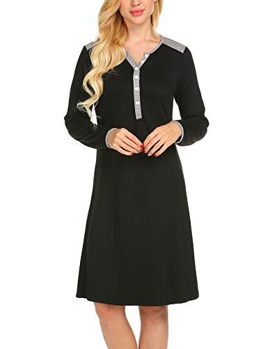 UNibelle Maternity Kleid, Damen Umstandsmode Sommerkleid Festliches Umstandskleid Schwangeren Kleider Mutterschaftskleid Nachthemd Schwangerschaft Stillkleider Schwarz - 5