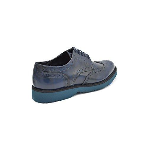 drudd  Bristolabraaw1701,  Herren Derby-Schuhe Blau