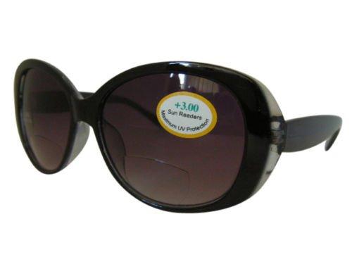 Smoke Damen Bifokal getönte Sonnenbrille sunreaders Qualität Designer 100% UV-427+ 2,00