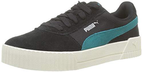 PUMA Carina Lux SD Zapatillas Mujer, Negro Puma Black-Teal Green 01, 39 EU