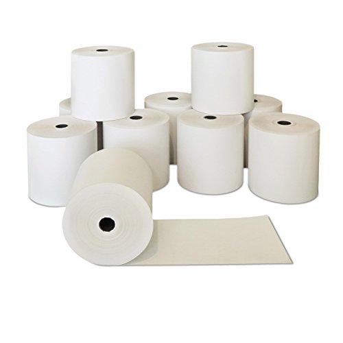 50 x Thermobonrollen 80mm x 50m x 12mm   Ø63mm   Papierrollen 80x50x12   Qualitäts Kasserolle   zertifiziertes Thermopapier   Thermorollen   HUTNER