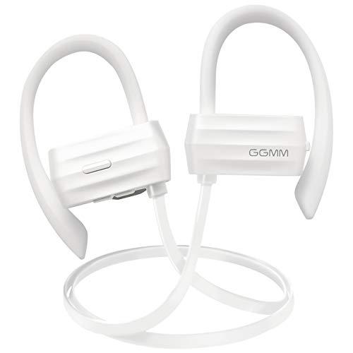 Ggmm w600 bluetooth cuffie 4.1 senza fili, auricolari wireless bluetooth stereo cuffies sportive stereo con microfono imperméable (bianco)