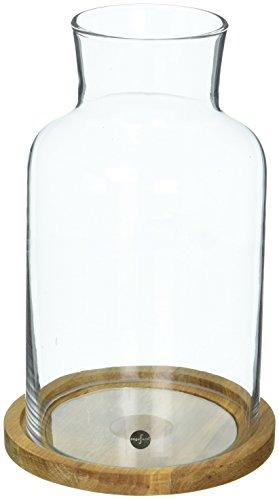 Sagaform Oval Oak Windlicht, Glas, 13 x 21,5 cm, 21.5 x 13 x 21.5 cm