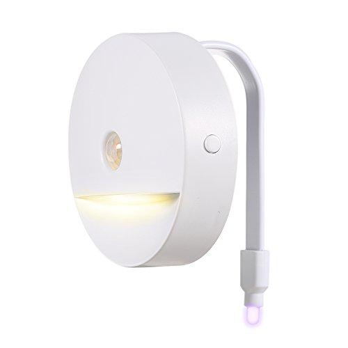 Preisvergleich Produktbild Docooler LED Flexible Toilettensitzlampe/Warmem Weiem Nachtlicht mit Lichtsensor und Bewegungssensor, A++ Energien Einsparung RGB 8 Farben/IP67 Wasser Bestndiges