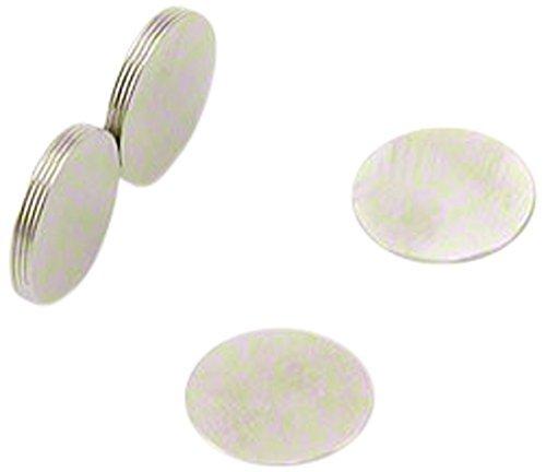 First4magnets F292-10 10mm Durchmesser x 0,4 mm Dicke N42 Neodym-Magneten - 0,15 kg ziehen (Packung mit 10), silver, 25 x 10 x 3 cm, Stück -
