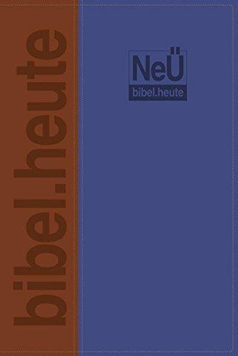 NeÜ bibel. heute Standardausgabe: zweifarbiges Kunstleder blau/braun
